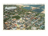 Blimp over St. Petersburg, Florida Poster