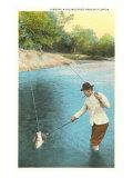 Landing a Fish, Florida Print