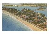 Aerial View of Ft. Lauderdale, Florida Poster