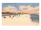 Beach, Daytona Beach, Florida Print