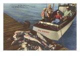 Fish on Dock, Florida Posters
