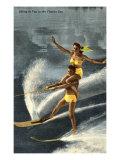 Water Skiers, Florida Kunst