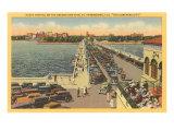 Pier, St. Petersburg, Florida Poster