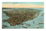 Aerial View of Key West, Florida Poster