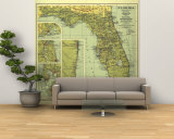 1930 Florida Map Wall Mural – Large