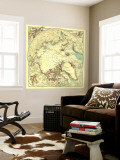 1907 North Pole Regions Map Wall Mural by  National Geographic Maps