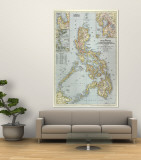 Philippines Map 1945 Wall Mural