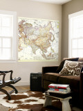 1951 Asia and Adjacent Areas Map Wall Mural