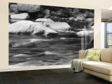 Rocks in the Swift River, White Mountain National Forest, New Hampshire, USA Wall Mural – Large