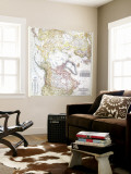 1949 Top of the World Map Wall Mural by  National Geographic Maps