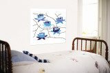 Blue Flowering Tree Wall Mural