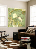 1925 Arctic Regions Map Wall Mural