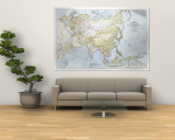 1942 Asia, and Adjacent Areas Map Wall Mural by  National Geographic Maps