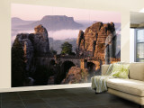 Bastei, Saxonian Switzerland National Park, Germany Wall Mural – Large