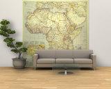 1935 Africa Map Vægplakat, stor af  National Geographic Maps