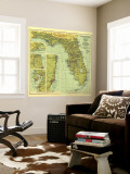 1930 Florida Map Wall Mural by  National Geographic Maps