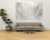 United States Of America Map 1940 Wall Mural