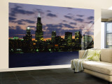 Buildings at Dusk, Chicago, Illinois, USA Wall Mural  Large