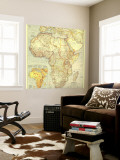 1935 Africa Map Wall Mural by  National Geographic Maps