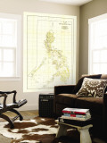 Philippines Map 1905 Wall Mural