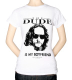 Juniors: The Big Lebowski - The Dude is My Boyfriend Tshirts
