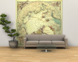North Pole Regions 1907 Wall Mural  Large