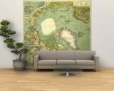 1925 Arctic Regions Map Vægplakat i topklasse, stor af  National Geographic Maps