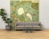 1925 Arctic Regions Map Wall Mural U2013 Large By National Geographic Maps Part 73