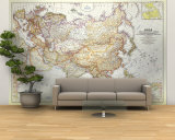 1951 Asia and Adjacent Areas Map Wall Mural – Large