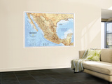 1994 Mexico Map Wall Mural by  National Geographic Maps