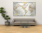 World Map 1951 Vægplakat af National Geographic Maps