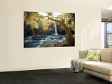 Scenic View of a Waterfall on Havasu Creek Vægplakat af W.E. Garrett
