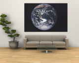 Earth From Space Map 1973 Reproduction murale géante