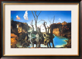 Reflections of Elephants Prints by Salvador Dal&#237;