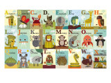 Alphabetischer Zoo|Alphabet Zoo Gicl&#233;e-Druck von Jenn Ski