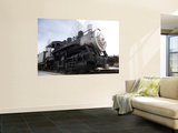 An Old Steam Engine Sits on a Siding Wall Mural by Taylor S. Kennedy