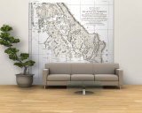 1899 A Chart showing part of the Coast of NW America Side 2 Wall Mural – Large