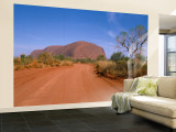 Desert Road and Ayers Rock, Australia Wall Mural – Large