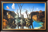 Reflections of Elephants Posters by Salvador Dal&#237;