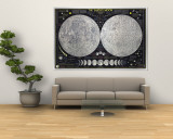 Earths Moon Map 1969 Wall Mural