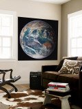 Planet Earth Eastern Hemisphere, NASA Satellite Composite Wall Mural