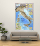 Italy Map 1995 Vægplakat af National Geographic Maps