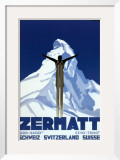Zermatt Posters by Pierre Kramer