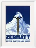 Zermatt Posters by Pierre Kramer