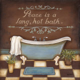 Long Hot Bath Print by Kim Lewis