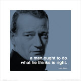 John Wayne: Right Kunstdruck