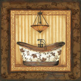Copper Paisley Bath I Posters by Jo Moulton