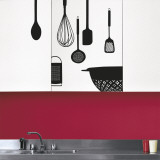 Kitchen utensils (Water Resistant Decal) - Duvar Çıkartması