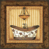 Copper Paisley Bath I Print by Jo Moulton