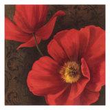 Rouge Poppies II Premium Giclee Print by Jordan Gray
